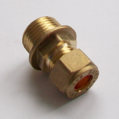 Brass Compression 8mm x 3/8 inch Male Iron - 24420801